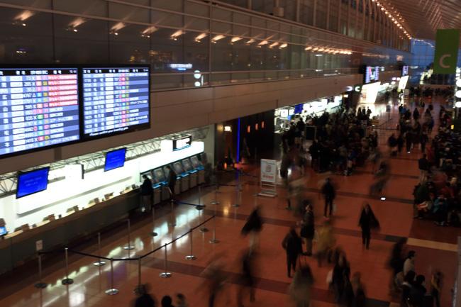 羽田空港へ無事到着