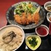 広島最後の食事は、かき名庵で「カキフライ定食」