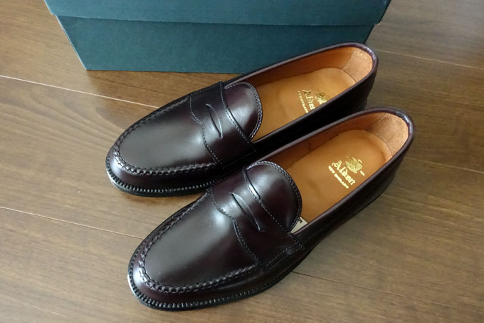 ALDEN #984 BURGUNDY LEISURE HANDSEWN PENNY LOAFERS