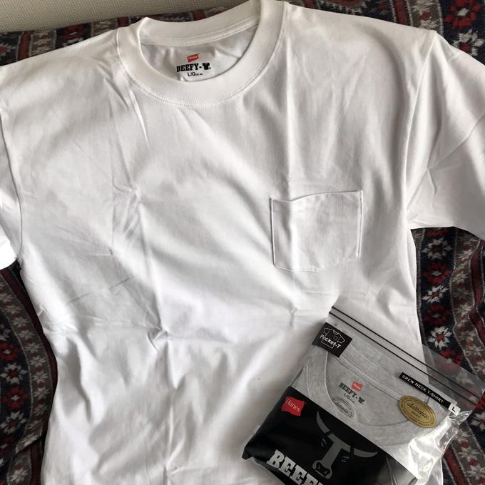 ヘインズ・ビーフィー Hanes BEEFY ポケット Tシャツ