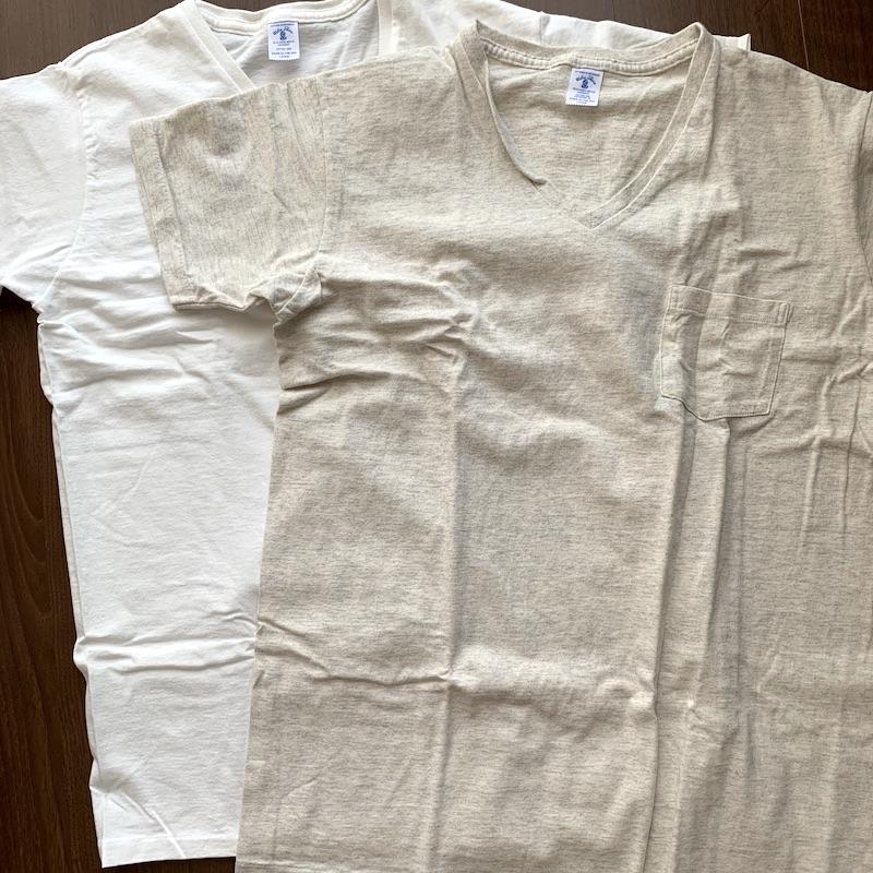 Velva Sheen(ベルバシーン)の2pac Vネック ポケットTシャツ